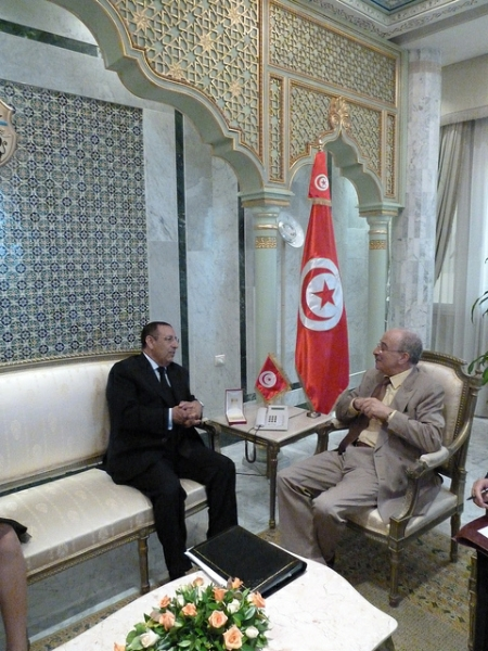 Youssef Amrani\'s meeting with Tunisian Minister for Foreign Affairs, M. Mouldfi Keffi