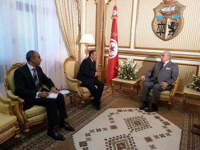 Tunisian President, M. Fouad Mebazaa, receives Youssef Amrani