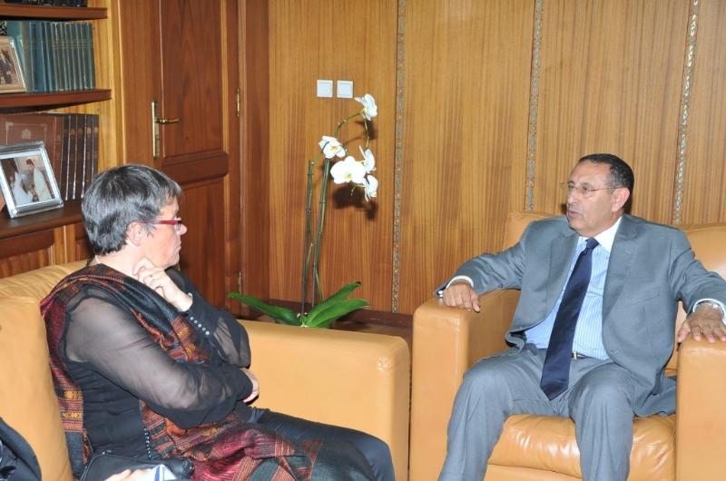 Visite du rapporteur de la Commission des Affaires Politiques et de la Démocratie de l\'Assemblée Parlementaire du Conseil de l\'Europe, Liliane Maury Pasquier.