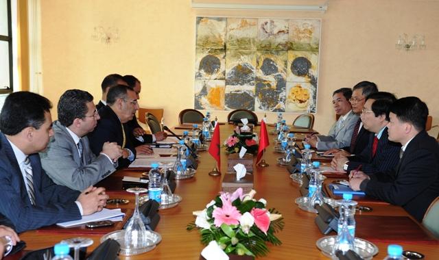 Entretiens de M. Amrani avec le Vice-Ministre Vietnamien des Affaires Etrangères, Nguyen Thanh Son.