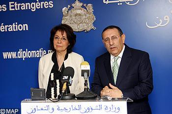 M. Amrani s'entretient avec la Commissaire européenne aux Affaires Maritimes et à la Pêche, Maria Damanaki.