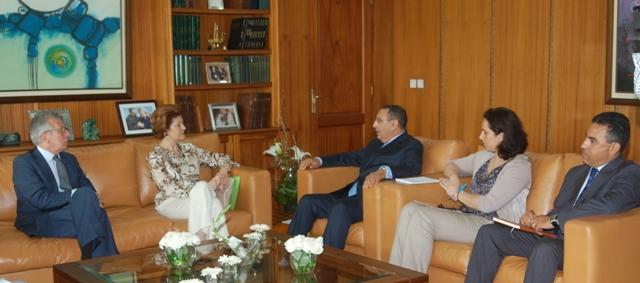 M. Youssef Amrani s'entretient avec la Commissaire Européenne chargée de l'Education, de la Culture, du Multilinguisme et de la Jeunesse.