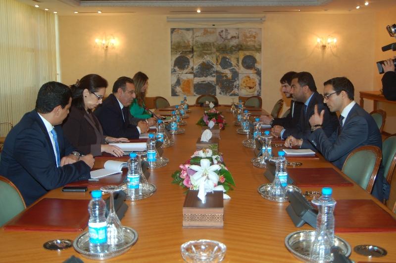 Entretien de M. Amrani avec le Secrétaire Général de l'UpM, Monsieur Fathallah Sijilmassi.