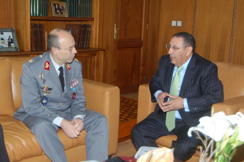 Visite de travail du Général de Division Carlos BRANCO, Chef de la Division de la Coopération Régionale et de la Sécurité Régionale au Secrétariat Militaire International de l'OTAN.