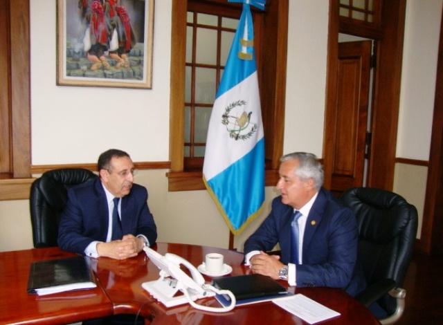 Rencontre du ministre délégué avec le Président de la République du Guatemala, Otto Perez Molina.