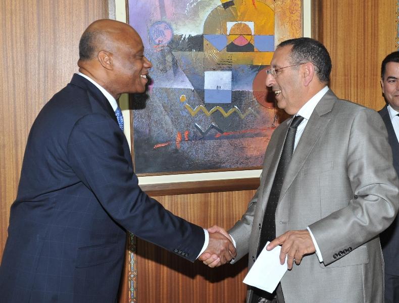 Entretien de M. Amrani avec le ministre ivoirien de l'Industrie, Jean-Claude Brou.
