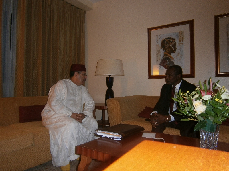 M.Amrani s\'entretient avec le Président de la République du Mali, Dioncounda Traoré.