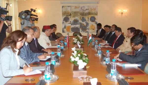 M. Amrani reçoit le Ministre Délégué indien aux Affaires Etrangères, M.E.Ahamed.