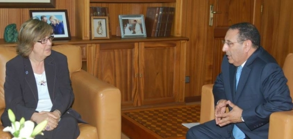Entretiens de M. Amrani avec la co-présidente de l\'Assemblée régionale et locale euro-méditerranéenne