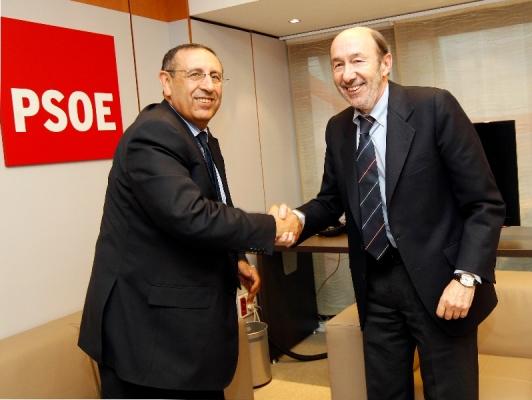 Entretien de M.Amrani avec le Secrétaire général du Parti socialiste ouvrier espagnol, M.Alfredo Pérez Rubalcaba