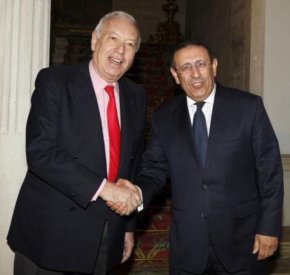 Monsieur Amrani avec M. josé manuel garcia Margallo