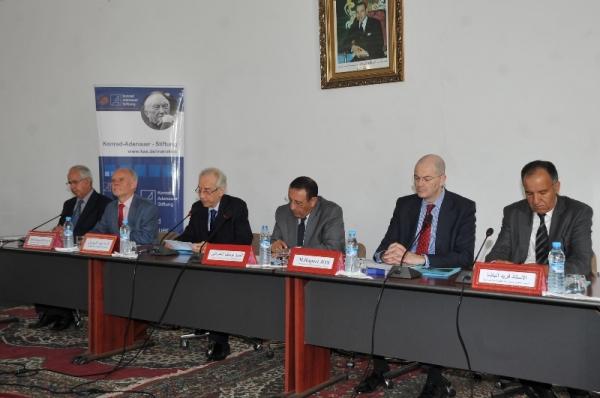M.Amrani lors d'un séminaire scientifique sur « Maroc-Europe: La convergence réglementaire, acquis et limites ».