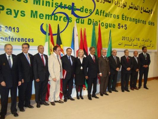 Participation de M.Amrani à la 10ème Réunion du groupe 5+5 à Nouakchott