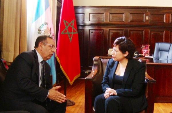 Entretien de M.Amrani avec la première Vice-Présidente du Congrès guatémaltèque, Mme Mirma de Coro.