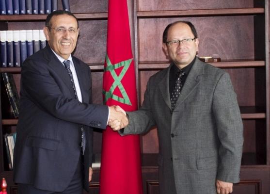 M. Amrani en compagnie du Vice-Ministre des Relations Extérieures du Guatemala,M. Ivan Espinoza Farfan.
