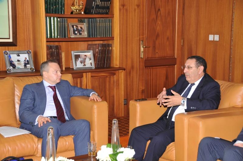 M. Amrani reçoit  le Vice Ministre des Affaires Etrangères d'Ukraine chargé de la Coopération Economique, Monsieur Vitaly Mayko.
